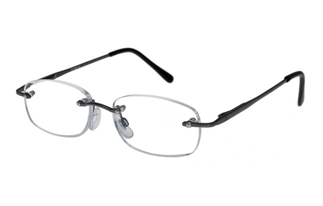 FLM Reading Glasses with gunmetal bridge and arms