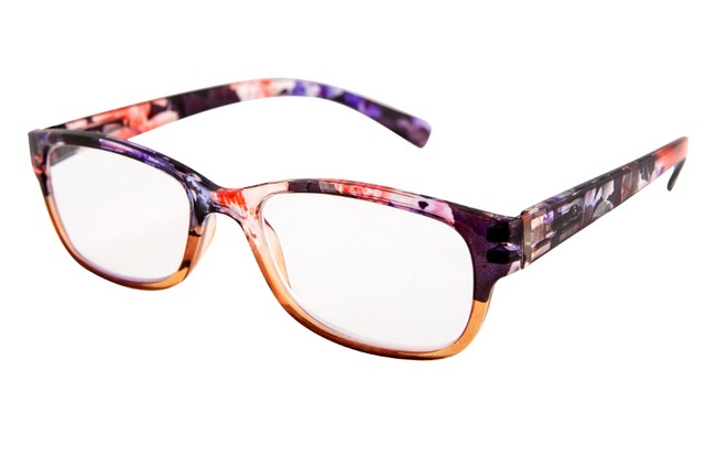 FW3 acrylic floral reading glasses in black and jade
