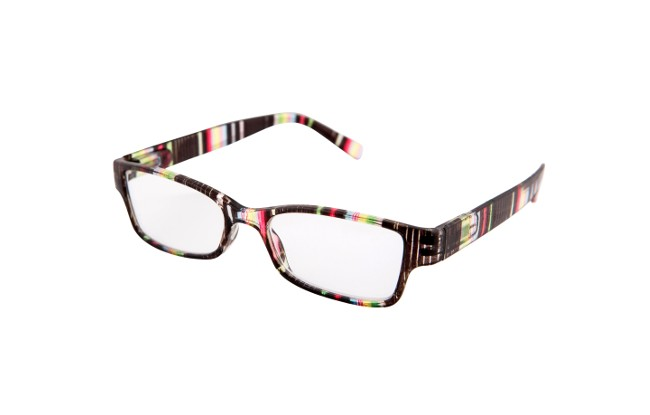 Multi-coloured reading glasses with patterns consisting of ...
