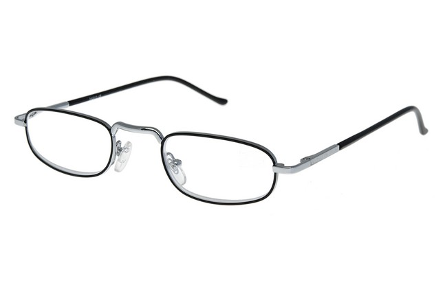 Type RG1 reading glasses with sleave and silver-black frame