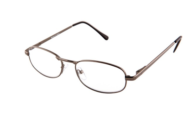 Type RG8 ready-to-wear gunmetal reading spectacles with reglazable lenses