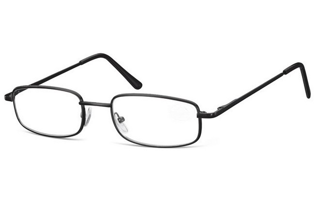 Type RGA ready-to-wear black framed reading spectacles with reglazable rims