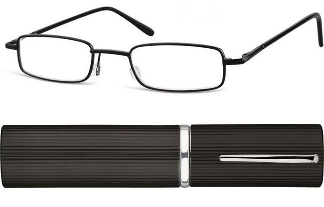 8c30dda65f10 TCK matt black full rim frame and black corrugated metallic tube with  pocket clip